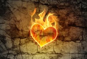 coração ardente